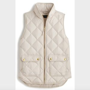 J. Crew Quilted Excursion Vest in Beige